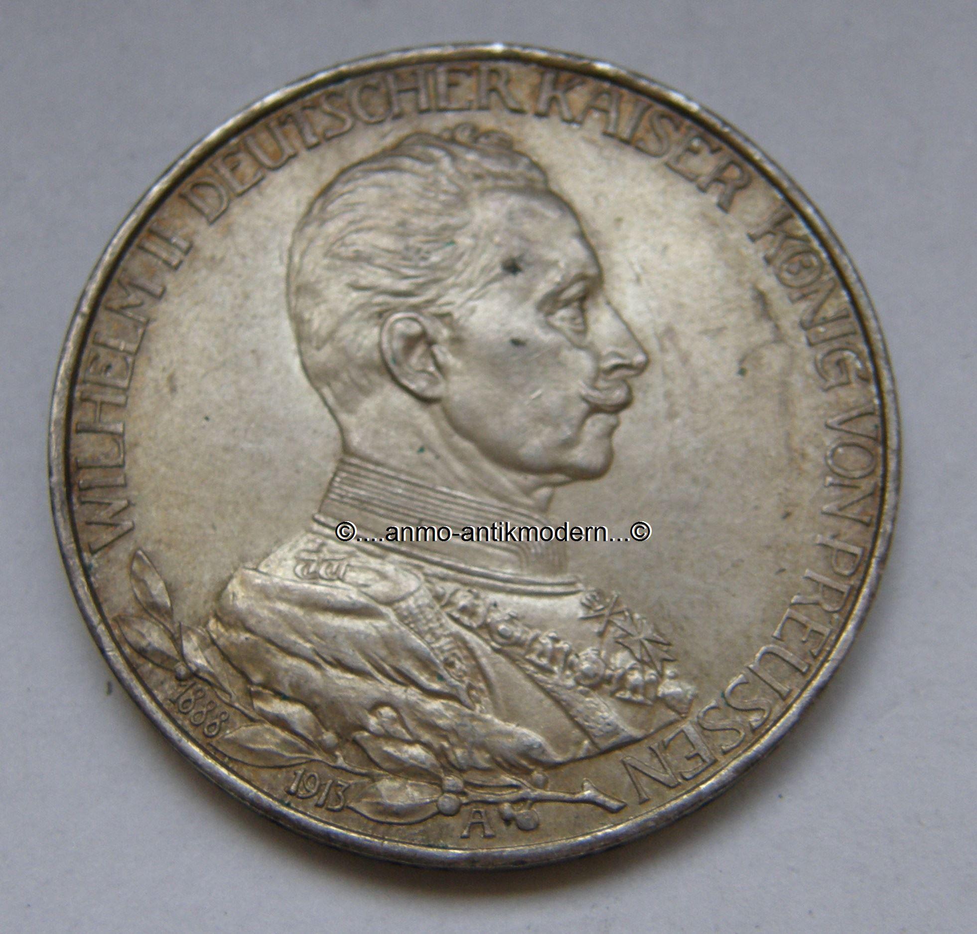 2 Mark Münze Preußen Regierungsjubiläum